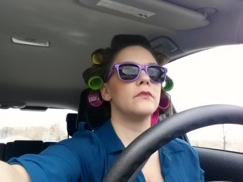 Driving with curlers